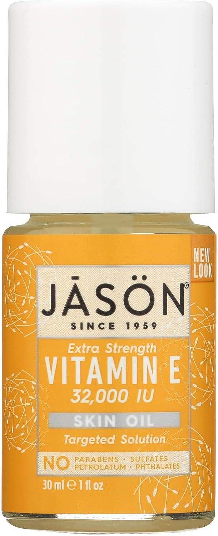 Jason Vitamin E Pure Beauty Oil - Extra Strngth - no Parabans - 32000 IU - 1 Fluid Ounce