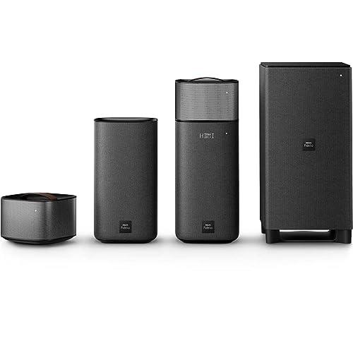Philips Fidelio E6 Home Cinéma 5.1 avec Enceintes Détachables sans Fil, Bluetooth, HDMI 4K-2K, Spotify Connect, 270W, Noir