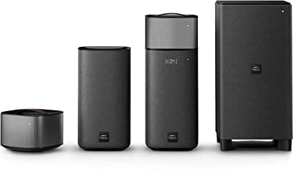 Philips Fidelio E6 Surround On Demand Home Cinema Speaker (Bluetooth,  Spotify Connect, HDMI ARC, Google Cast, Wireless Subwoofer, Detachable Rear