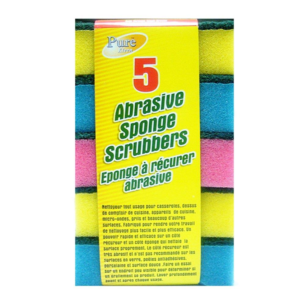 Purest-Kleen Abrasive Sponge Scrubbers (5 In 1 Pack) 307068 Purest Kleen