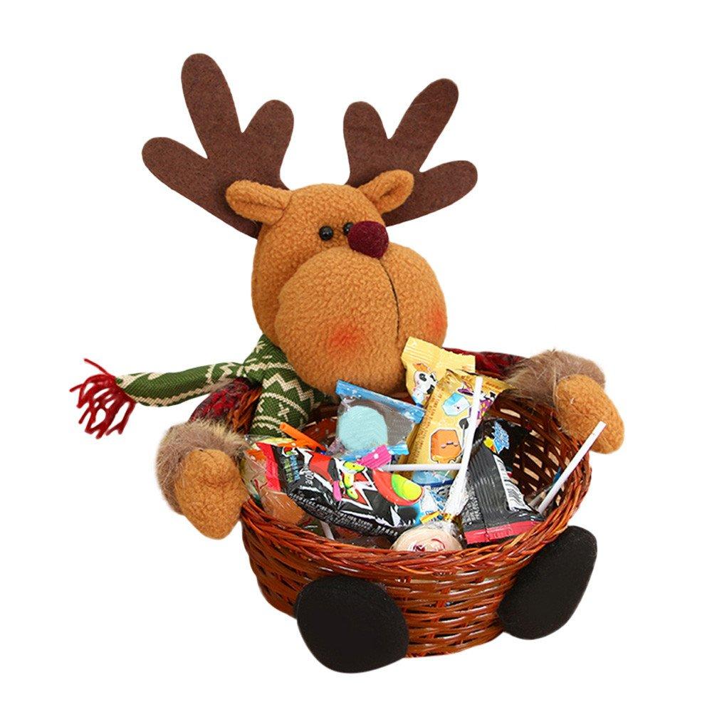 Zyyuk Santa Home Corbeille de Rangement pour Bureau Motif Bonbons