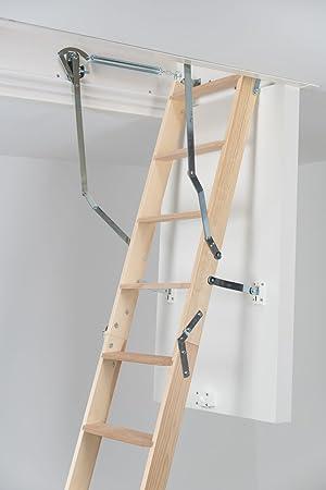 Dolle clickFIX 76 de madera plegable Loft Escalera (1150 x 550 mm): Amazon.es: Bricolaje y herramientas