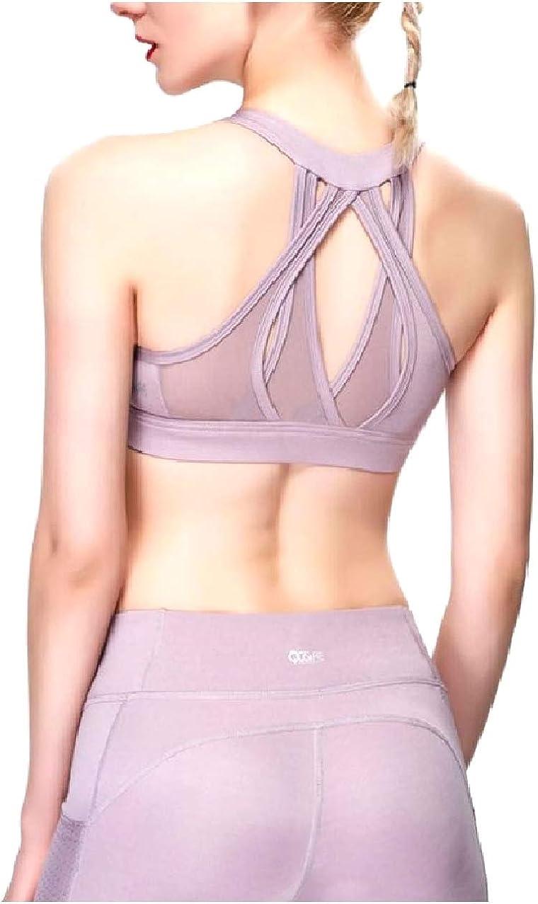 Zimaes-Women Cami Full-Coverage High Impact Support Yoga Sport Bra