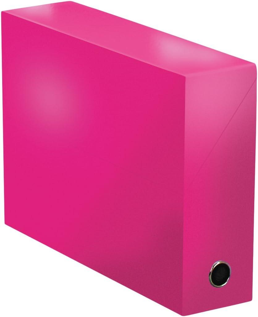 Elba 400081695 color life – Caja de transferencia ancho 9 cm 34 x 25,5 cm Plastificado, color fucsia: Amazon.es: Oficina y papelería