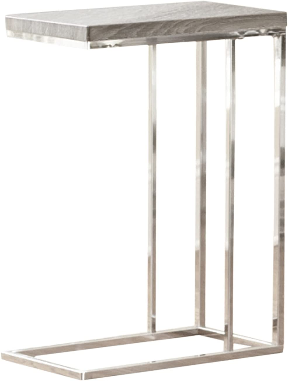 """Steve Silver Company Lucia Chairside End Table, 10"""" x 18"""" x 25"""", Grey/Brown"""