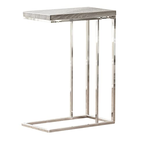 Steve Silver Company Lucia Chairside End Table, 10 x 18 x 25 , Grey Brown