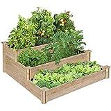 Greenes 4 Ft. X 4 Ft. X 21 In. Tiered Cedar Raised Garden Bed
