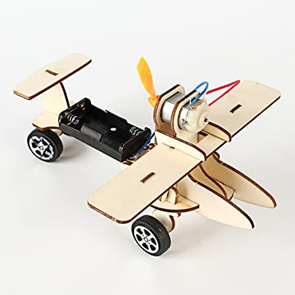 Amazon Com Ronshin Creative Electric Wooden Racing Technology Car