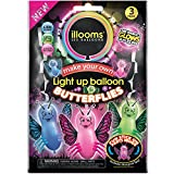 illooms 12 Pack Butterflies LED Light up Birthday Party Fun Kids Balloons, 4 Pack of 3 Each