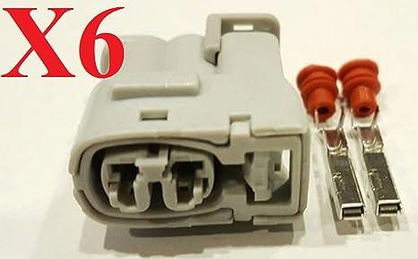 muzzys (Juego de 6) Bobina de encendido Conector Kit de reparación para Toyota Supra
