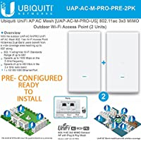 UniFi AP AC Mesh UAP-AC-M-PRO PRECONFIGURED 802.11ac 3x3 MIMO Outdoor Wi-Fi AP (2 Units)