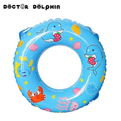 Doctor Dolphin Pool Float,Inflatable Party Lounge Raft, Swim Ring Summer Beach Inflatable Rubber Inner Tubes Toys for Adults (31.5 Inch): Toys & Games
