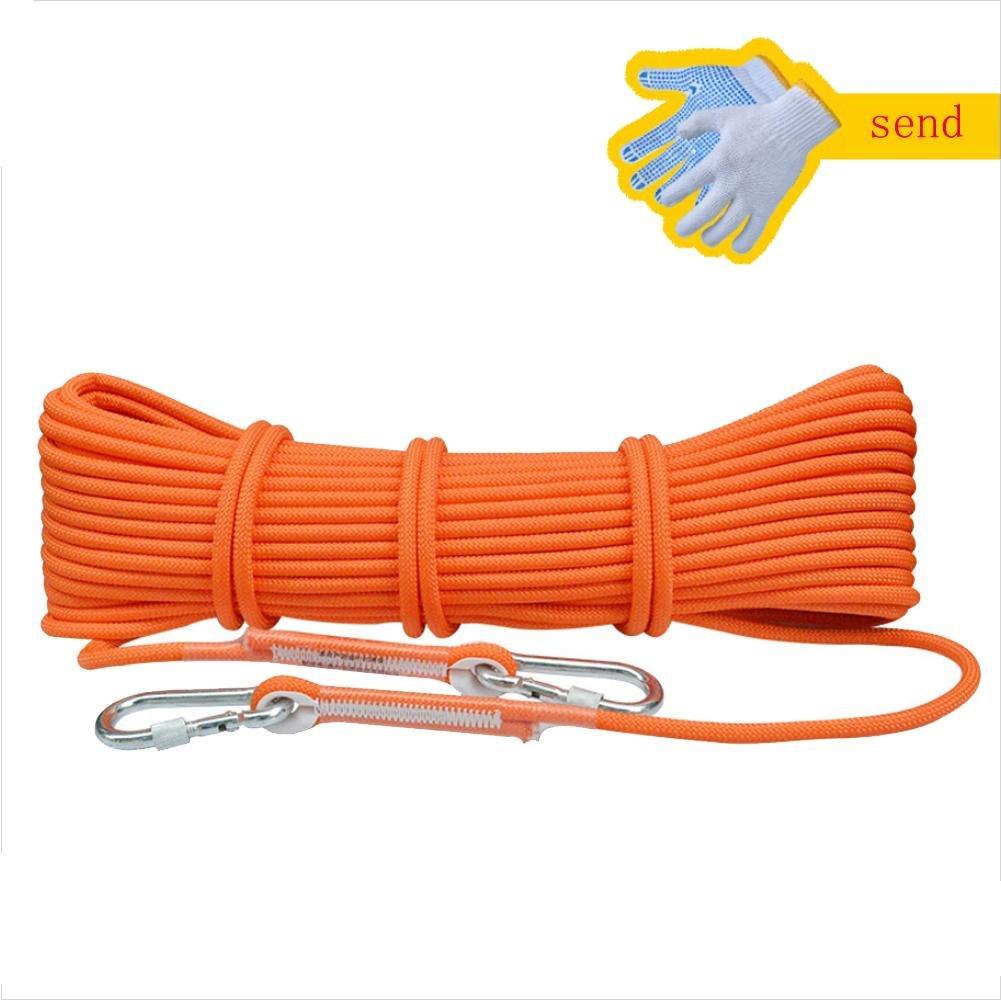 Lmzyan Outdoor Wear-Resisting Mountaineering Seil Klettern Seil Survival Ausrüstung Ausrüstung Ausrüstung Senden 2pcs Aluminium Sicherheitsschloss B077GLSHQ2 Einfachseile Komfortabel und natürlich ea9156