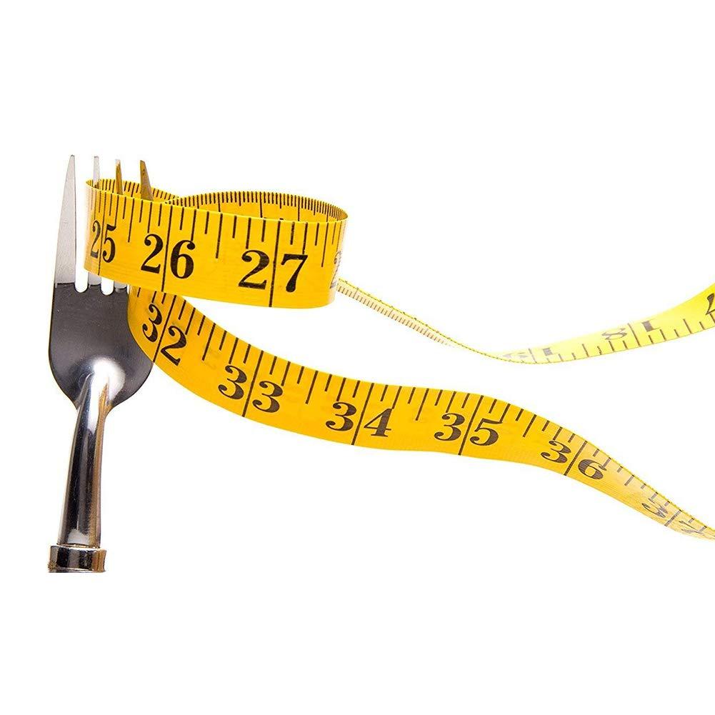 1,5 m Ndier Muchas Maneras de Utilizar Medida Cinta m/étrica Flexible Doble para la p/érdida de Peso Corporal M/édico Tela de Costura de Costura de medici/ón