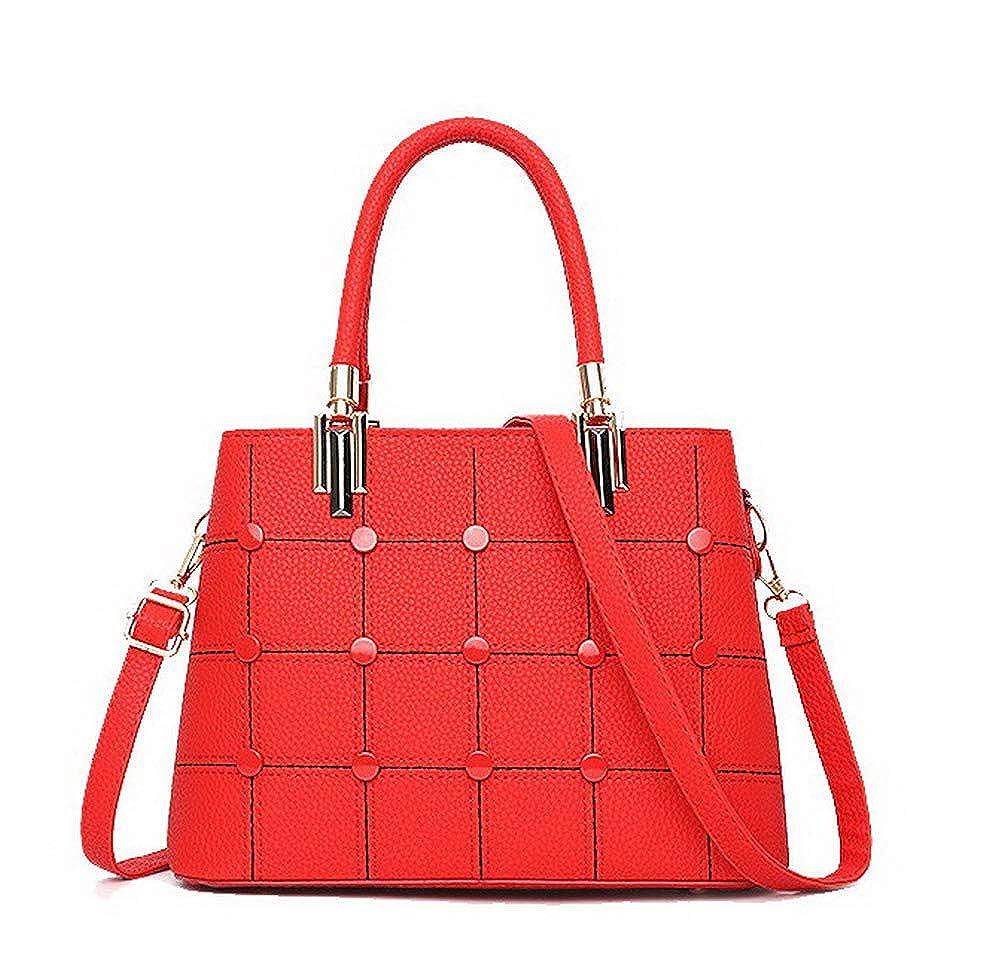 Claret WeiPoot Women's Shopping Pu Tote Bags Novelty Crossbody Bags,EGHBG182568