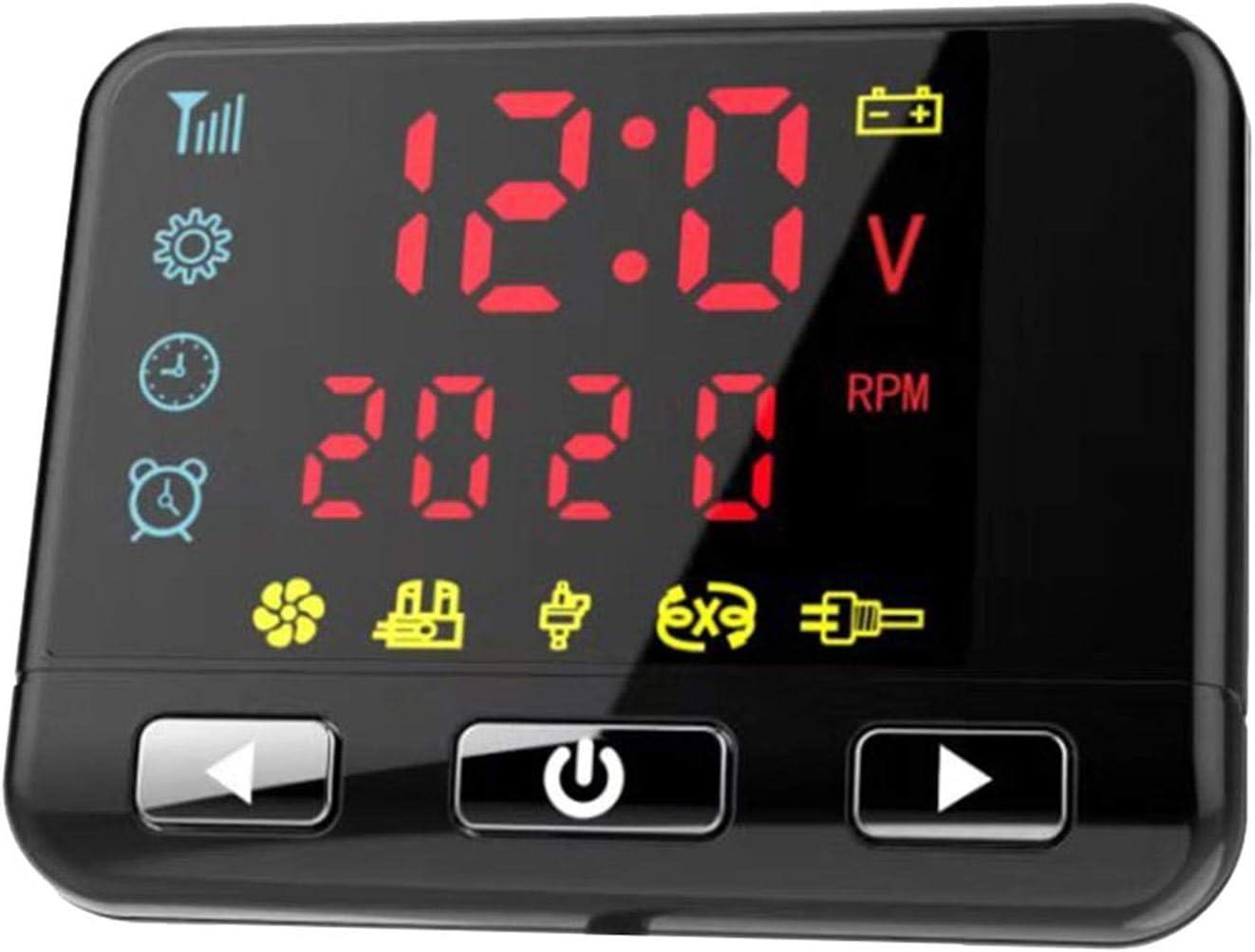 Riosupply 12V 2KW LCD Monitor Air Diesel Heater,Calentador de Combustible yate Barco Inicio autob/ús Aire calefacci/ón de estacionamiento