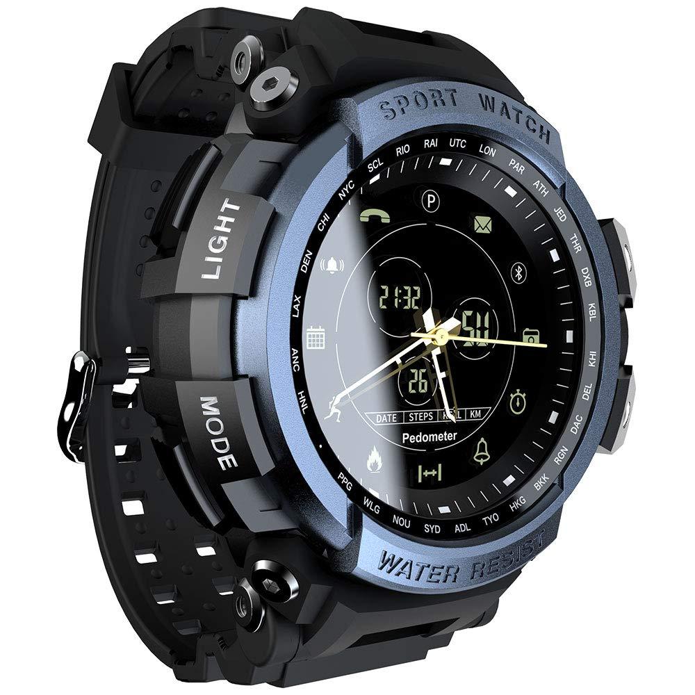 MOKA Sports Anolog Digital Smart Watch -Men Boys Waterproof Bluetooth Smart Wrist Watch, Smartwatch with Walking Calories,Remote Camera, Call/SNS/SMS ...