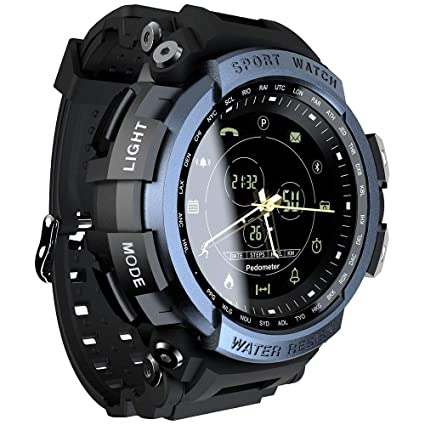 LOKMAT Sports Anolog Digital Smart Watch Men Boys Waterproof Bluetooth Smart Wrist Watch, Smartwatch with Walking Calories,Remote Camera, Call/SNS/SMS ...