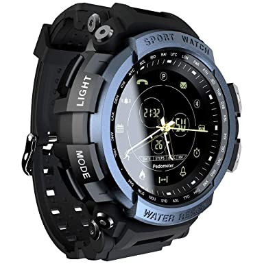LOKMAT Sports Anolog Digital Smart Watch Men Boys Waterproof Bluetooth Smart Wrist Watch, Smartwatch Walking Calories,Remote Camera, Call/SNS/SMS ...