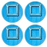 MSD Round Coasters Non-Slip Natural Rubber Desk Coasters design 29751046 Vintage for picture on blue wooden wall