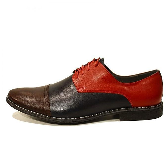 Modello Celestino - 40 EU - Cuero Italiano Hecho A Mano Hombre Piel Vistoso Zapatos Vestir Oxfords - Cuero Cuero Suave - Encaje 2zCsejV9G