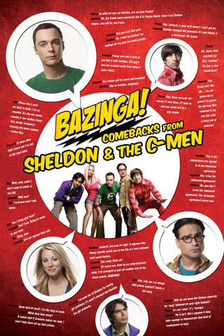 Bazinga  Poster   Sharp Comebacks From The Big Bang Theory  36  X 24
