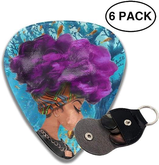 Púas de celuloide para guitarra africana con pelo púrpura 351, 6 ...