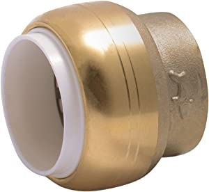 "SharkBite UIP514A 1/2-Inch 1/2"" PVC Cap (IPS), Push-To-Connect, Brass"
