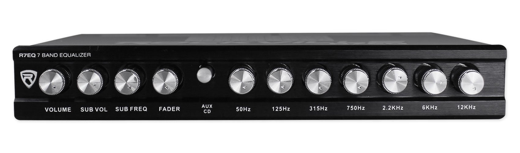 Rockville R7EQ 1/2 Din 7 Band Car Audio Equalizer EQ w/Front, Rear + Sub Output by Rockville