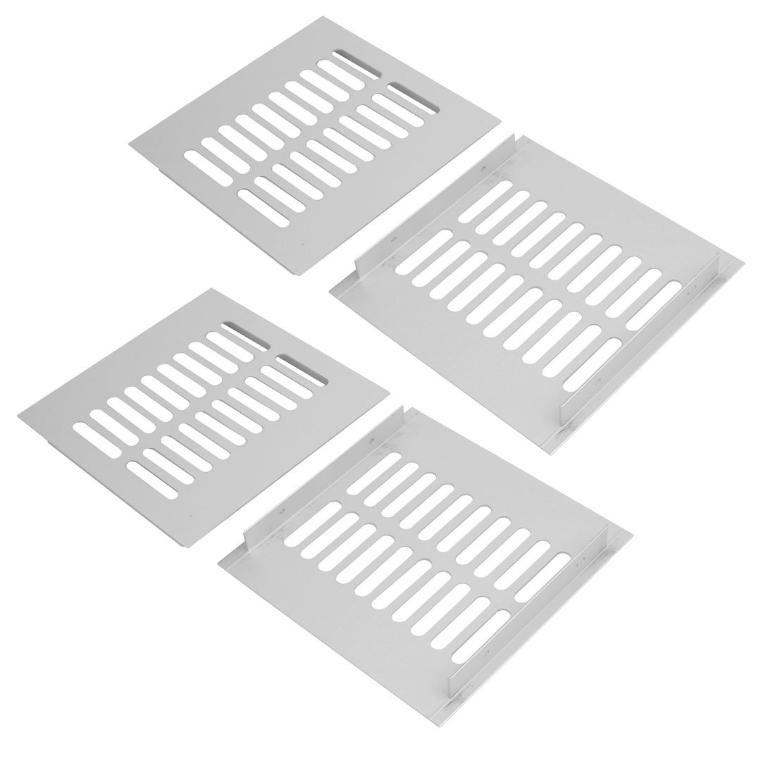 uxcell 4pcs 150mmx150mm Aluminum Alloy Air Vent Louvered Grill Cover Ventilation Grille
