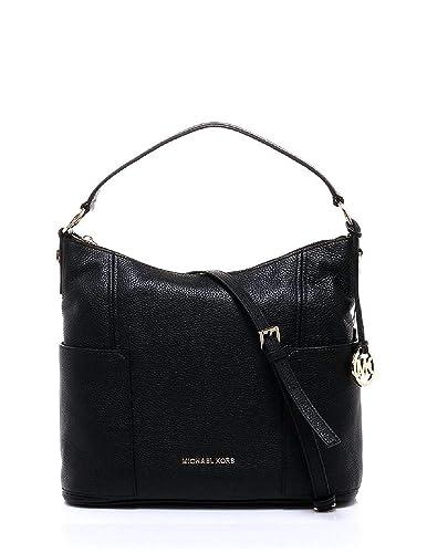 38472898e317de Women's Michael Kors Large Convertible Shoulder Handbag Crossbody Pebbled  Leather Black