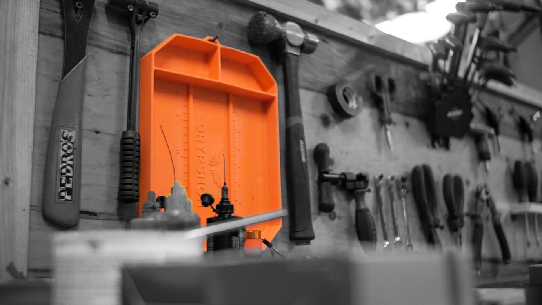 Grypmat | Non-Slip Flexible Orange Tool Tray | Tool Box Organizer | Socket Organizer | Tool Holder | Tool Mats | No Magnets | Easy Clean Up | As Seen On Shark Tank (Medium) by Grypshon (Image #7)