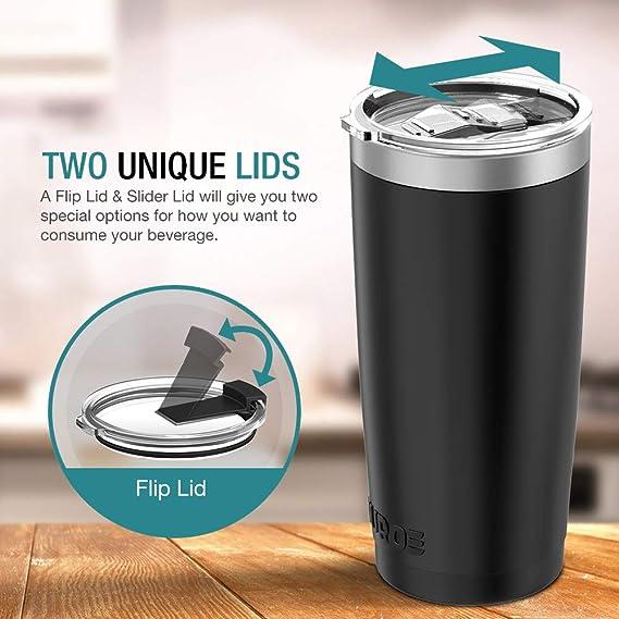 Amazon.com: Juro Vaso de acero inoxidable con aislamiento al ...