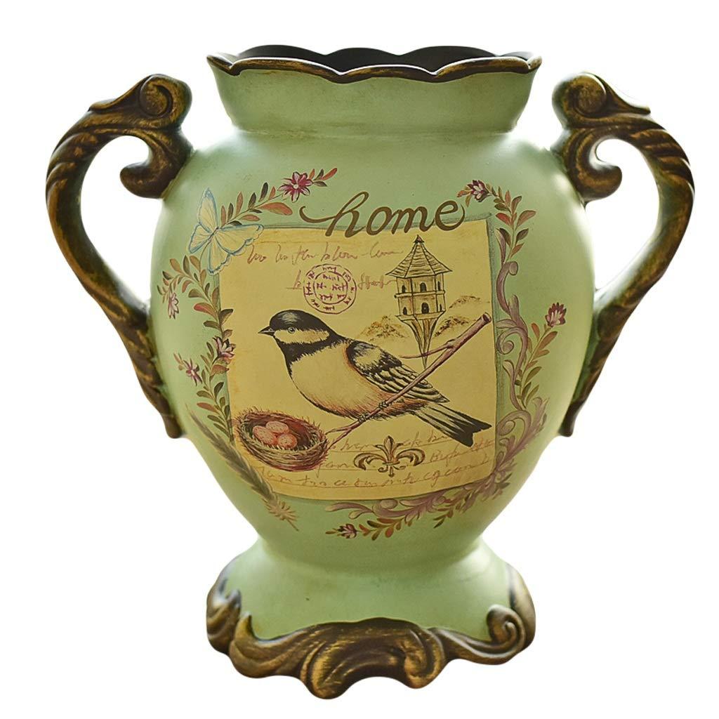 MAHONGQING 花瓶ヨーロッパレトロセラミック大花瓶花アメリカの国フラワーアレンジャーリビングルームホームデコレーション装飾品 B07S8BPV46