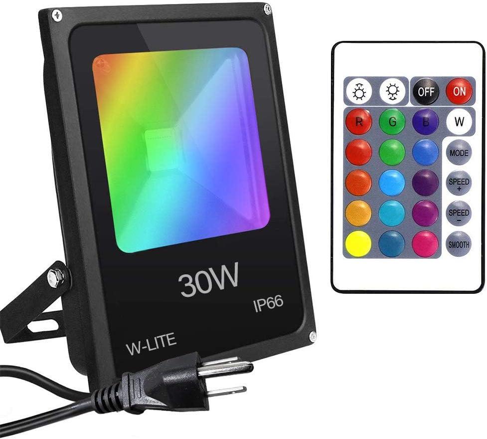 30W//50W//100W RGB Colour Changing LED Floodlight Garden Lawn Spotlight Waterproof