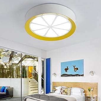 LED Deckenleuchte Moderne Acryl Zitrone Design Deckenlampe Metall ...
