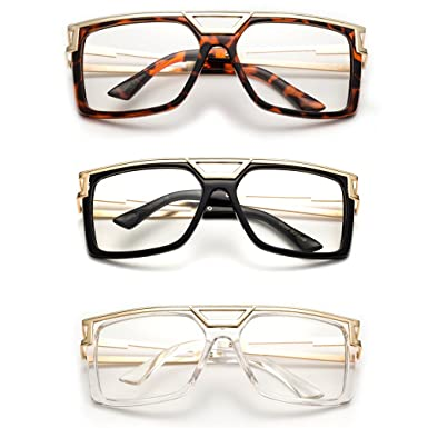 rox thick frame rapper 80s 90s retro design clear lens frames