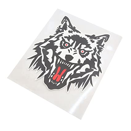 amazon com uxcell wolf head pattern self ahensive decal sticker