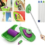 2 Sponge Brush 3PCS Sticks Point And Paint Roller and Tray Home Decor Painting Brush Decorative Tool by Superjune