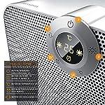 Brandson-Termoventilatore-Ceramico-Timer-1-8-Ore-2-Livelli-di-potenza-Termostato-digitale-1800-Watt-Funzione-Ventilatore-Comandi-touch-Tripla-sicurezza-Bianco-grigio