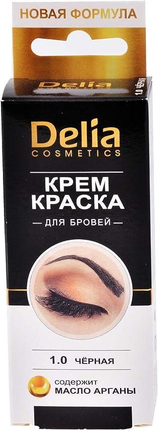 Delia Cosmetics - Crema para cejas y pestañas, 15 ml, color marrón, dura hasta 14 días -
