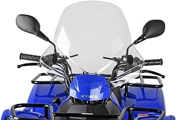 SDENSHI Universal Windschutzscheibe Windschild Spoiler f/ür ATV Quad Dirt Bike Schwarz
