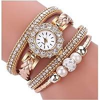 DYLUNG Ladies Watches,Clearance Sale Fashion Vintage Bracelet Weave Wrap Quartz Wrist Watch Dress Watches Gifts for Girls Women