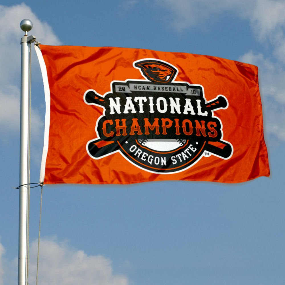 new product 38712 4d785 Amazon.com   Oregon State Beavers NCAA 2018 College World Series Champions  Flag   Sports   Outdoors