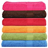 Trident 400 GSM 6 Pieces Bath Towels Combo Set - Multicolor