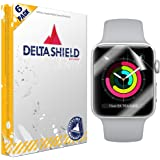 Apple Watch Screen Protector (42mm Series 3/2/1 Compatible)[6-Pack], DeltaShield BodyArmor Full Coverage Screen Protector Apple Watch Military-Grade Clear HD Anti-Bubble Film