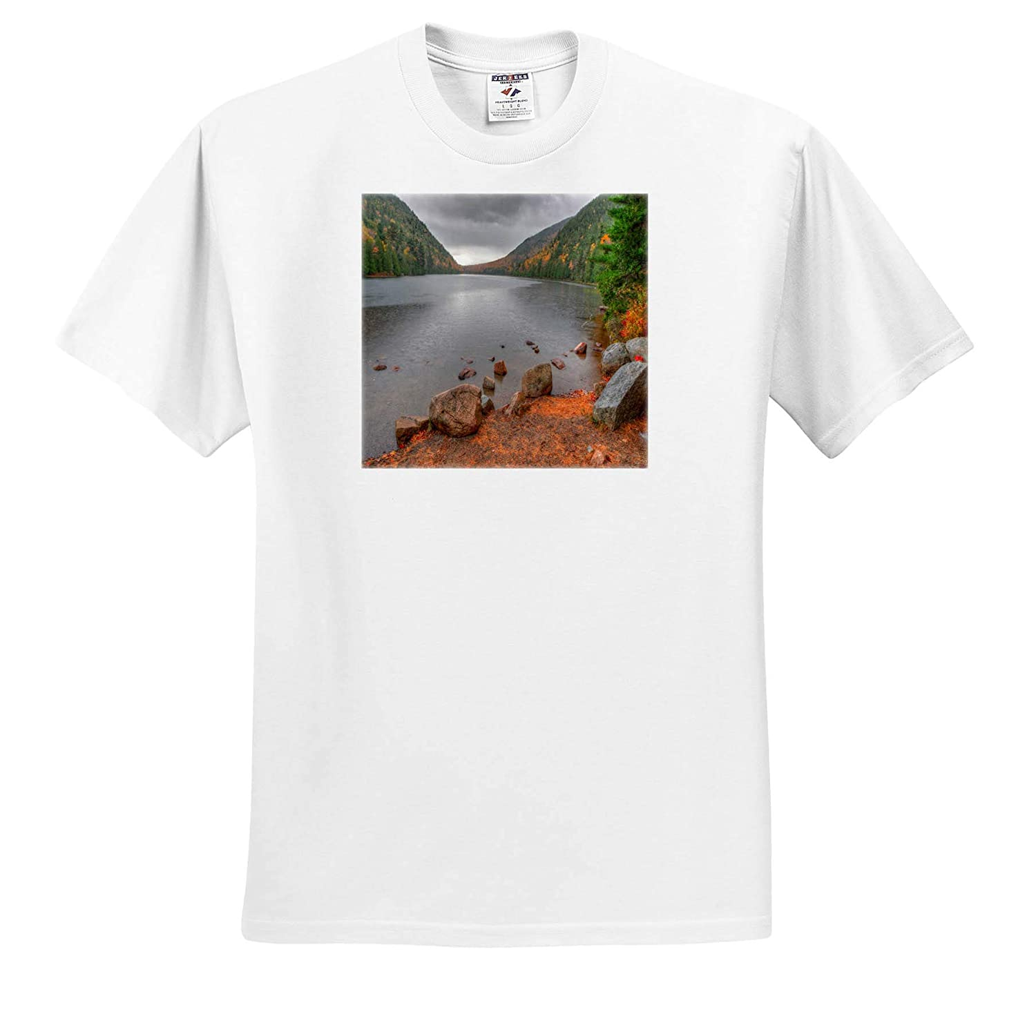 ts/_317146 Adult T-Shirt XL Landscapes 3dRose Mike Swindle Photography Cloudy Skies Over Lake