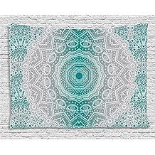 grey blue tapestry. Black Bedroom Furniture Sets. Home Design Ideas