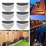 FClearup1991 Lot6 Outdoor Solar Power 6 LED Sensor Garden Light Wall Fence Lamp Waterproof