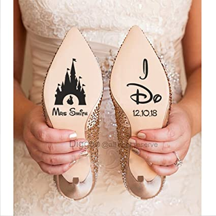 Amazon Com Personalized Bride Wedding Shoe Decal I Do Quote Decal